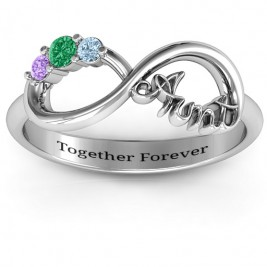 Aunt's Infinite Love Ring with Stones