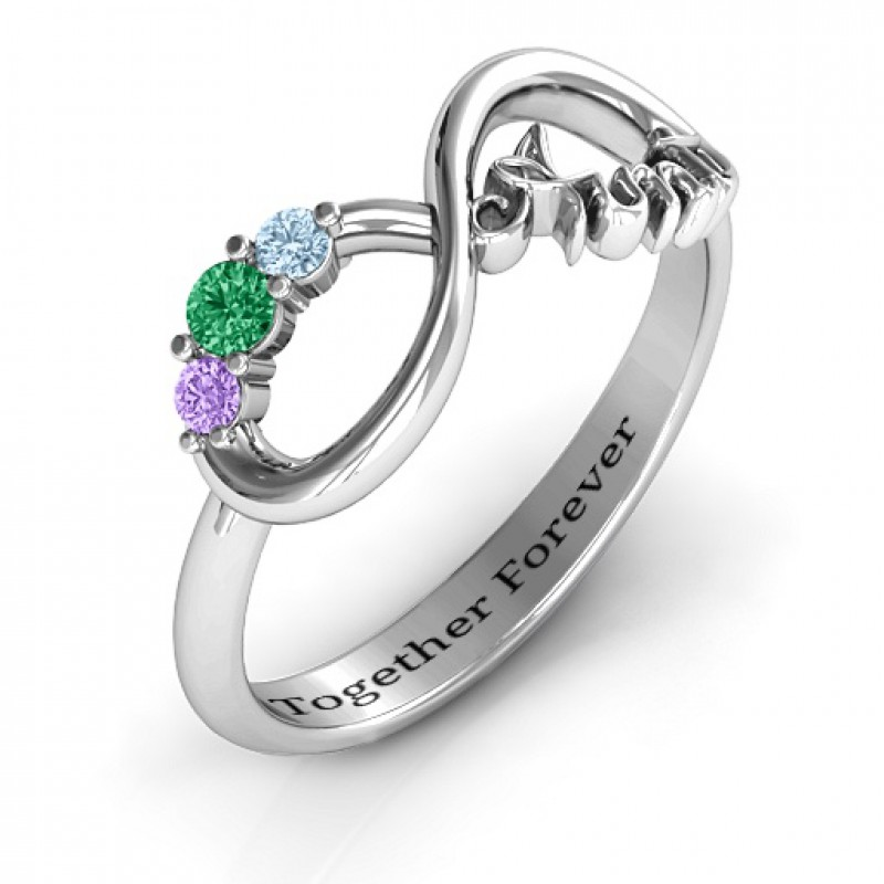 Aunt S Infinite Love Ring With Stones