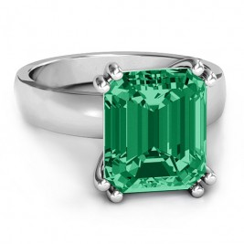 Basket Set Emerald Cut Ring
