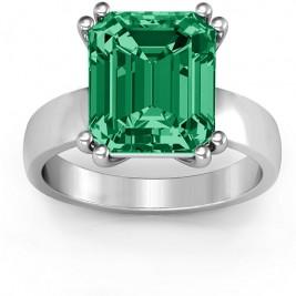 Basket Set Emerald Cut Ring