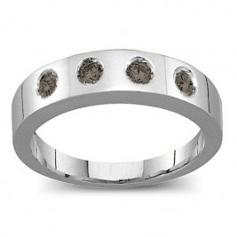 Belt Ring with 2-6 Round Stones