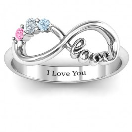 Birthstone Infinity Love Ring