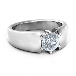 Bold Devotion Solitaire Ring