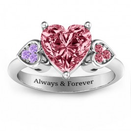 Brilliant Love Accented Heart Ring