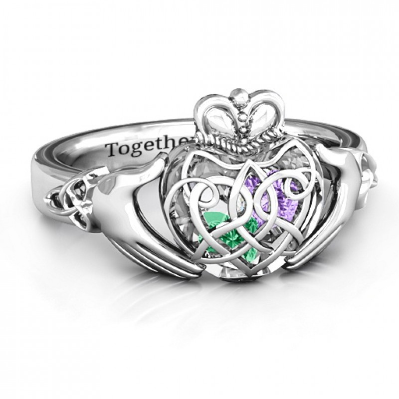 Caged Claddagh Ring