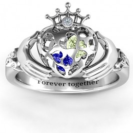 Caged Hearts Claddagh Ring