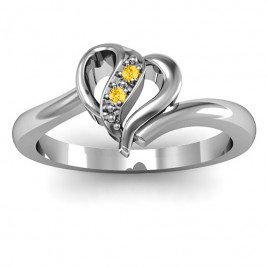Centre Weave Fashion Heart Ring