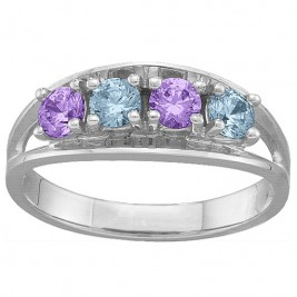 Classic 2-6 Gemstones Ring