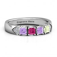 Classic 2-7 Princess Cut Ring with Accents