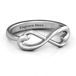 Classic Hearts Infinity Ring
