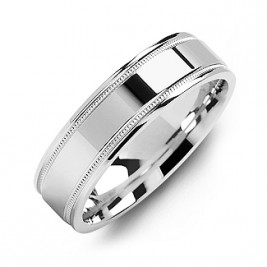 Classic High-Polish Milgrain Men's Ring