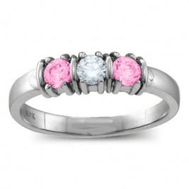 Classic Separated 2-5 Stones Ring