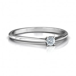 Classic Solitare Sparkle Ring