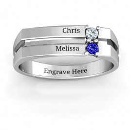 Crevice Grooved Women's Ring
