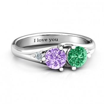 Darling Duo Double Gemstone Ring