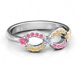 Dazzling Infinity Ring with Accents