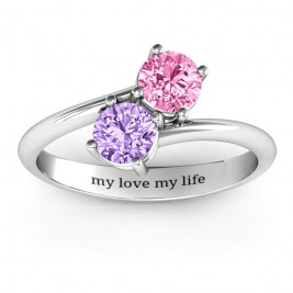 Destined For Love Double Gemstone Ring