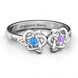 Double Celtic Gemstone Ring