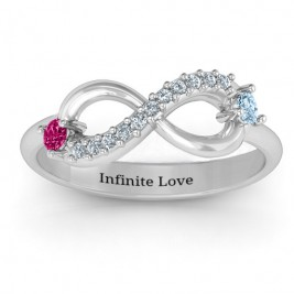 Double Stone Infinity Accent Ring