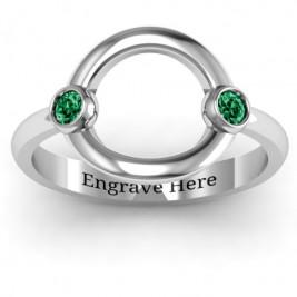 Double Stone Karma Ring