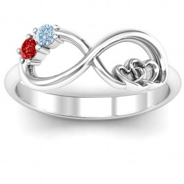 Double the Love Infinity Ring