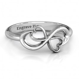 Duo of Hearts Infinity Ring