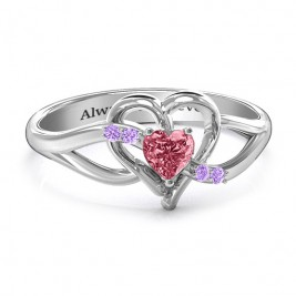 Endless Romance Engravable Heart Ring