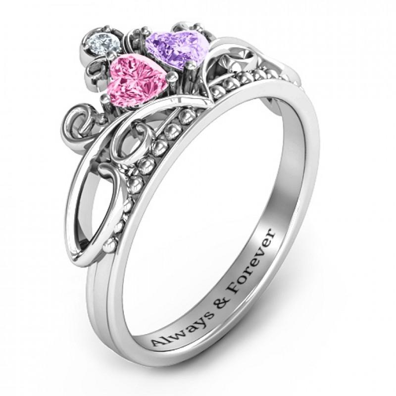Ever Enchanted Double Heart Tiara Ring