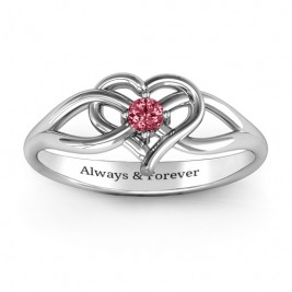 Everlasting Elegance Interwoven Heart Ring