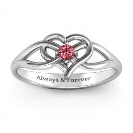 Everlasting Elegance Interwoven Heart Ring