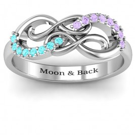 Everlasting Infinity Ring with Gemstones