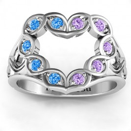 Floating Heart Infinity Ring