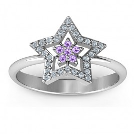 Floating Star with Halo Ring