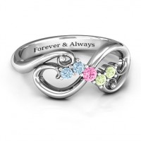 Flourish Infinity Ring with Gemstones