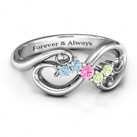 Flourish Infinity Ring with Gemstones