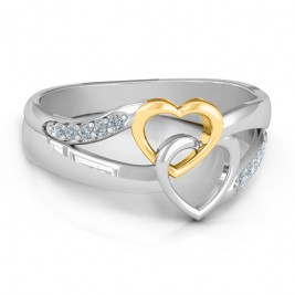 Forever Linked Hearts Ring