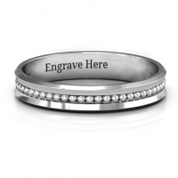 Forge Beaded Groove Bevelled Women's Ring