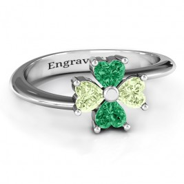 Four Heart Clover Ring