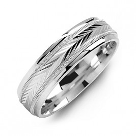 Harvest of Love Milgrain Men's Ring
