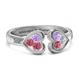Heart To Heart Wraparound Ring