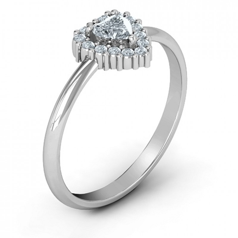 Heart With Halo Promise Ring