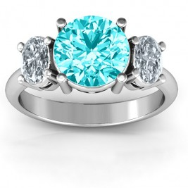 Impressive Three Stone Eternity Ring