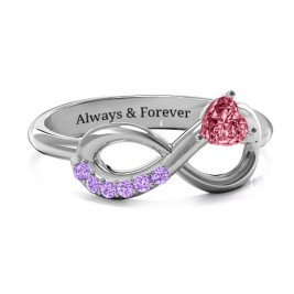 Infinity In Love Ring with Accents