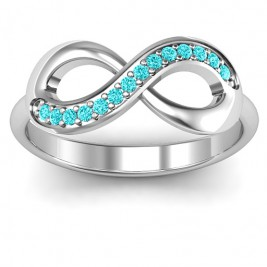 Infinity Ring with Single Accent Row