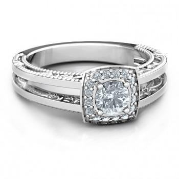Intricate Love Ring