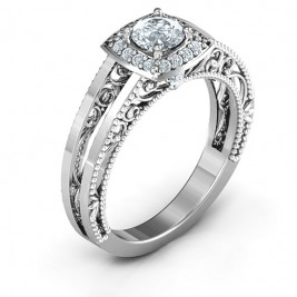 Intricate Love Ring