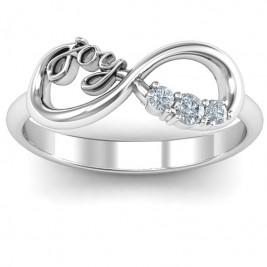 Joy Infinity Ring with 3 Stones