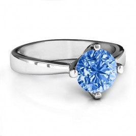 Large Stone Solitaire Ring