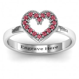 Love Story Heart Accent Ring
