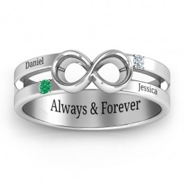 Men's Accented Infinity Ring